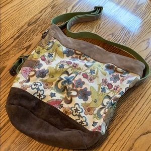 LUCKY BRAND Vintage Inspired Canvas & Leather Tote